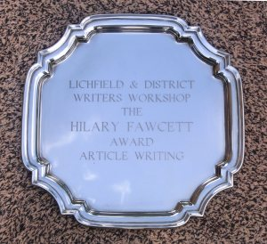Lichfield & District Writers Article Writing Competition Trophy