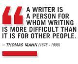 Thomas Mann quote about writing