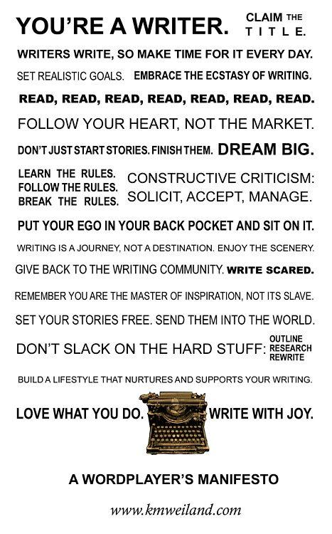 A Writers's manifesto