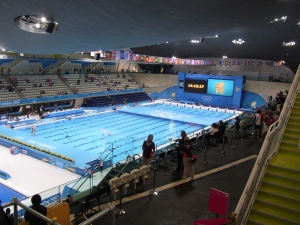 Inside the Aquatic Centre, London 2012