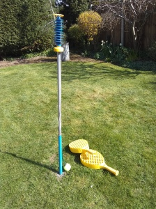 Swingball in the Garden
